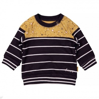 Bess baby sweater striped ocre