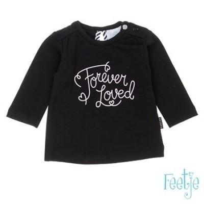 Foto van Feetje newborn girl Longsleeve Forever The Cutest Black