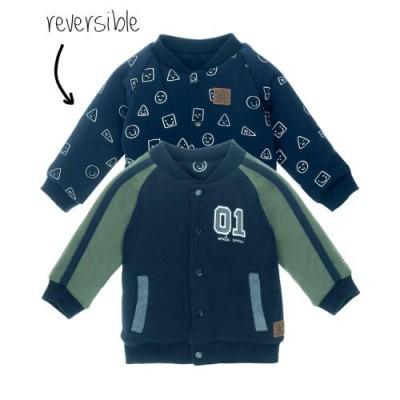 Feetje baby boy vest reversible marine - Smile
