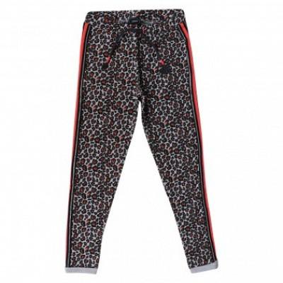 Foto van Little miss Juliette Sweat Pants Black/Leopard print all over