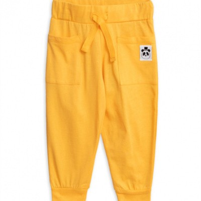 Foto van Mini Rodini solid cotton trouser yellow