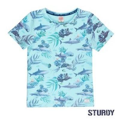 Foto van Sturdy T-shirt k/m AOP Scuba Mint