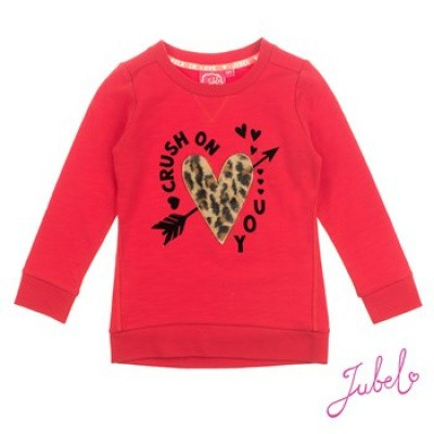 Foto van Jubel Sweater Crush on you Leopard - Lipstick Red