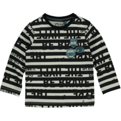Quapi baby boy Long sleeve Vasterd Dark grey Text AOP