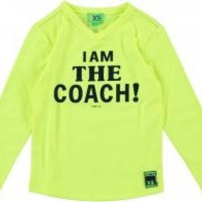 Funky xs boys coach tee neon yellow