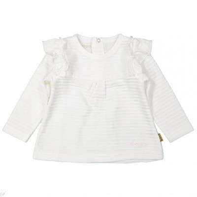 Bess baby long sleeve ruffles white