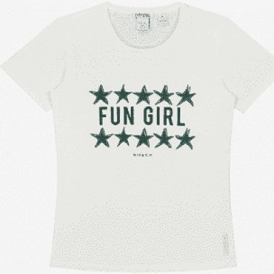 Foto van Nik & Nik Girls Fun Girl T-Shirt Off White