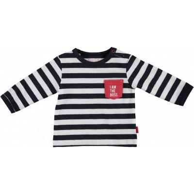 Bess newborn shirt striped i am the boss