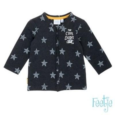 Foto van Feetje baby boy vest star antra melange