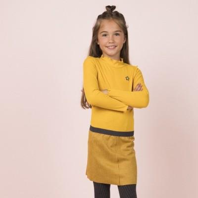Flo jurk oker geel