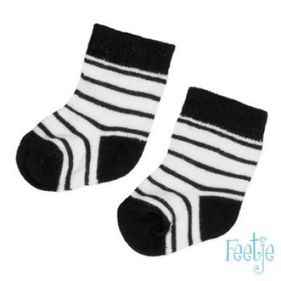 Feetje newborn boy sokken zwart/wit