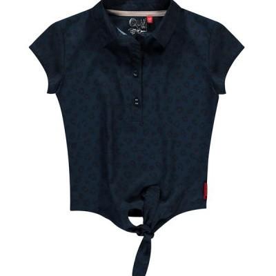 Quapi girls blouse Sita leopard navy