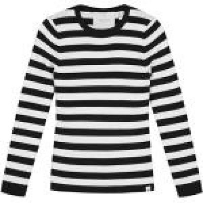Nik & Nik girls Jolie Top Black/Offwhite Stripe