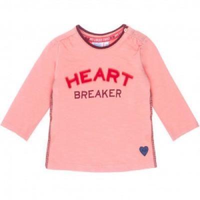 Feetje baby girl Longsleeve Heart Breaker Roze - Stars