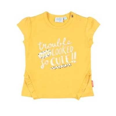 Feetje Baby Girl T-Shirt Trouble Never Looked Kiss Yellow