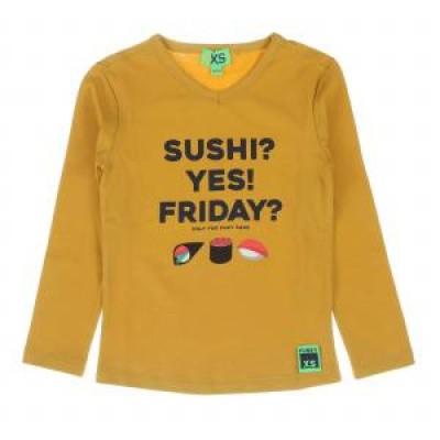 Foto van Funky xs boys Sushi Tee T-shirt warm yellow