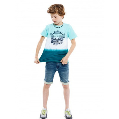 Foto van Indian blue jeans shirt Aqua splash