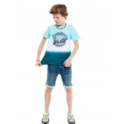Indian blue jeans shirt Aqua splash