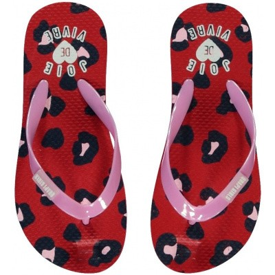 Quapi meisjes Flipflops Slippers Saavi Rouge Red Leopard