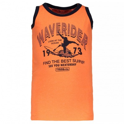 Tygo & Vito neon tanktop 'Waverider' shocking orange