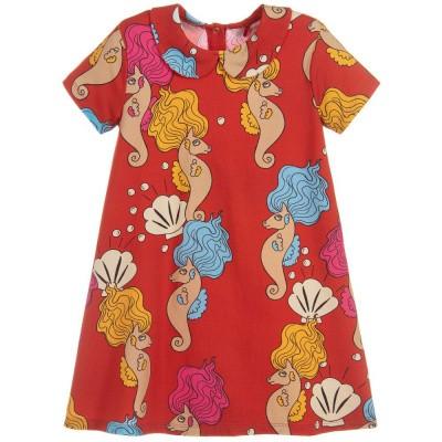 Foto van Mini Rodini Seahorse collar ss dress