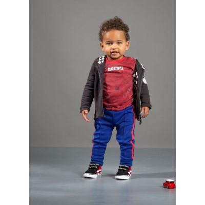 Quapi baby boy Valeriano Longsleeve Race Red Stripe