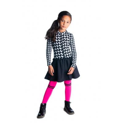 Foto van B.Nosy Meisjes jurk met zwarte rok - Maxi starwhite puzzle