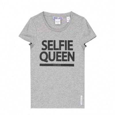 Nik & Nik girls Selfie T-shirt Light Grey