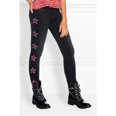 Nik & Nik girls Fiona Star Denim jeans Black denim