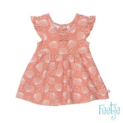 Feetje Baby Girl Dress AOP Shells Roze