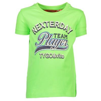 Foto van Tygo & Vito neon T-shirt Team Player 347 green geeko