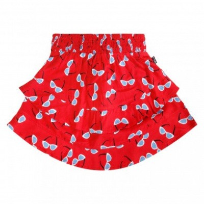 Foto van Little miss Juliette Skirt ruffle rood