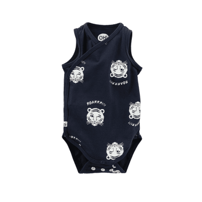 Z8 newborn boys Space Navy/All over print tijgers