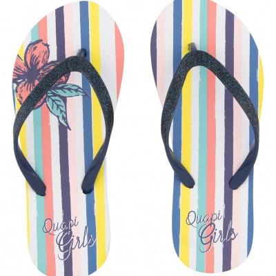Quapi Girls Slippers Anika Multi stripe