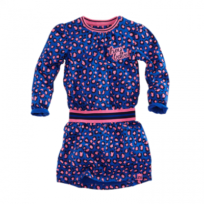 Foto van Z8 baby Eva dress Brilliant blue/all over print leopard pink/blue