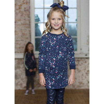 Foto van Moodstreet girls dress navy flower