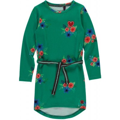 Quapi girls Tamia 2 dress Forest Green Flower