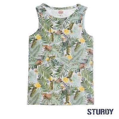 Sturdy Singlet palm all over print Sunray