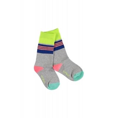 Kidz-art high knee socks stripes grey Melee