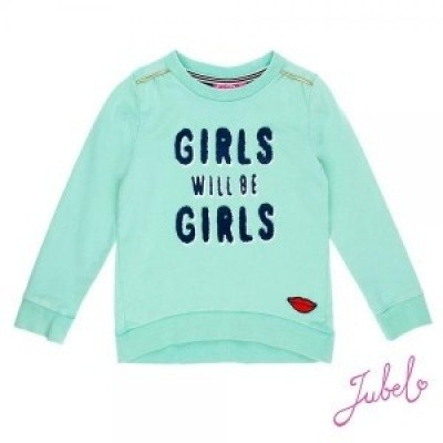 Jubel Sweater girls sisterhood mint