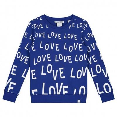 Nik & Nik girls Love Ao Sweater River Blue 7115