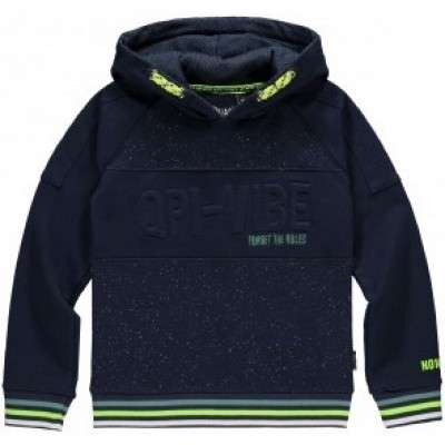 Quapi boys Liam Hooded sweater navy