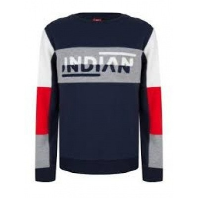 Indian blue jeans boys sweater washed blue