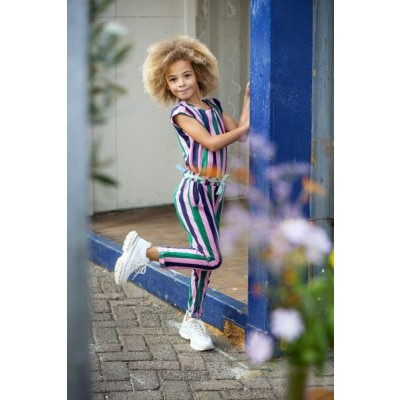 Foto van Quapi Aniek Jumpsuit Multi Colour Stripe
