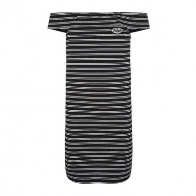 Retour girls Jenny Dress Stripe black/grey