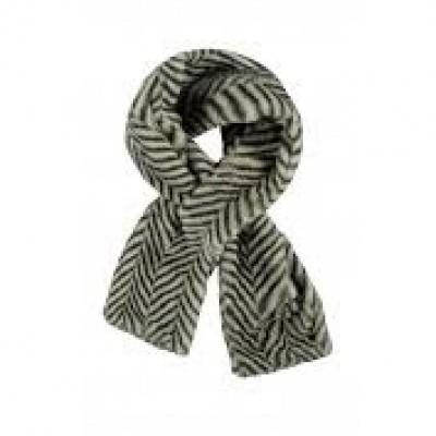 Foto van Flo sjaal fluffy streep grijs