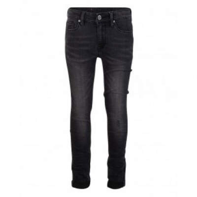 Foto van Indian blue jeans boys jog pants skinny grey/black