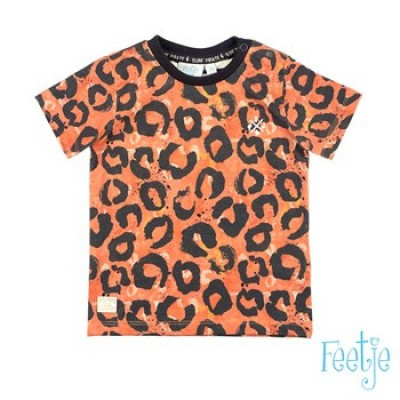 Feetje Baby Boy T-Shirt AOP Treasure Hunter Oranje