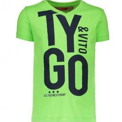 Foto van Tygo & Vito neon t-shirt 'TYGO&vito' green gecko