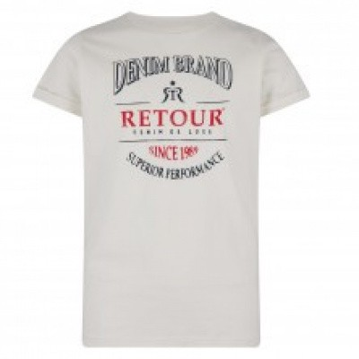 Foto van Retour Boys Sascha T-shirt Off White